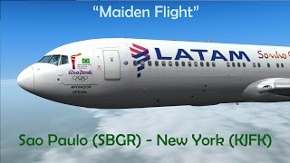 "[FSX] Sao Paulo (SBGR) ✈ New York (KJFK)  // Boeing 767-300 LATAM ""Maiden Flight"""