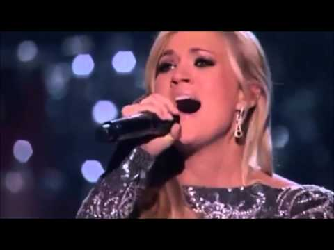 Carrie Underwood, sings, How great thou art