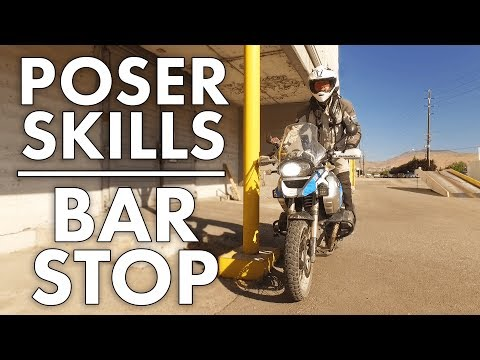 Learn the Bar Stop : Adventure Bike Skill
