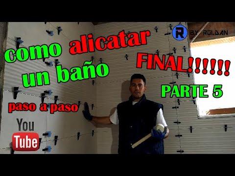 COMO ALICATAR BAÑO PASO A PASO PARTE 5