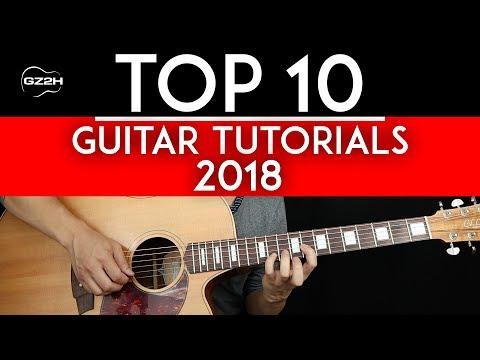 Top 10 Guitar Tutorials of 2018 - GuitarZero2Hero Countdown 🎸