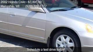 2002 honda civic ex 4dr sedan for sale in menasha wi 54952