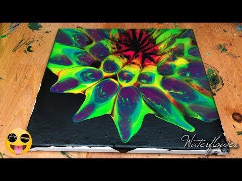 Reversed Colander Technique Fluid Art | Acrylic Pouring