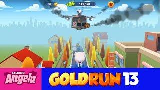 My Talking Angela Gold Run Play for Children Full Episode #13