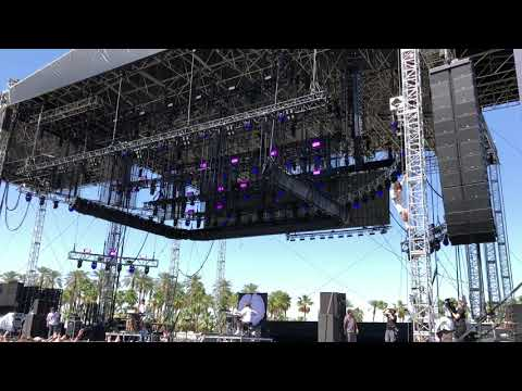Sir Sly at Coachella 2018 climbing the stage!