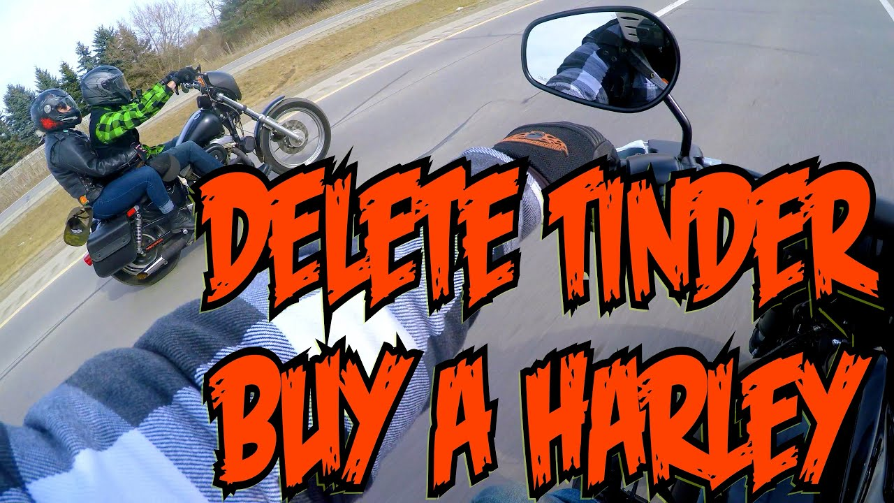 delete tinder buy a motorcycle