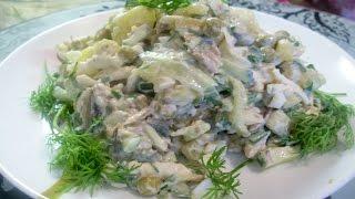 Салат со шпротами с весенней ноткой