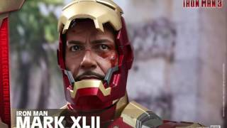 Iron Man 3 Hot Toys Mark XLII Iron Man 1/4 Scale Deluxe Movie Figure Revealed!