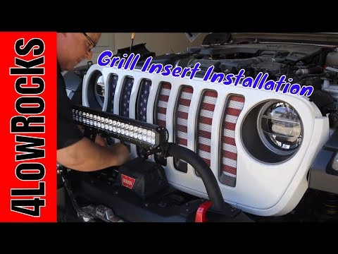 Installing Mojo Grill Inserts American Flag!