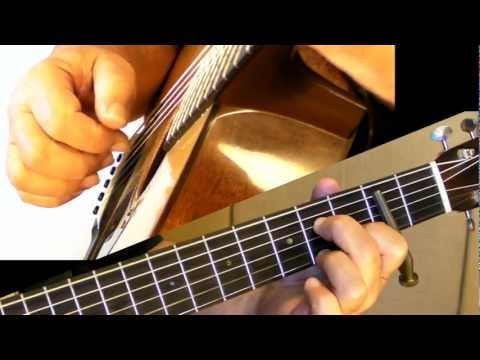 Key of D in Open G Tuning - Partial Capo