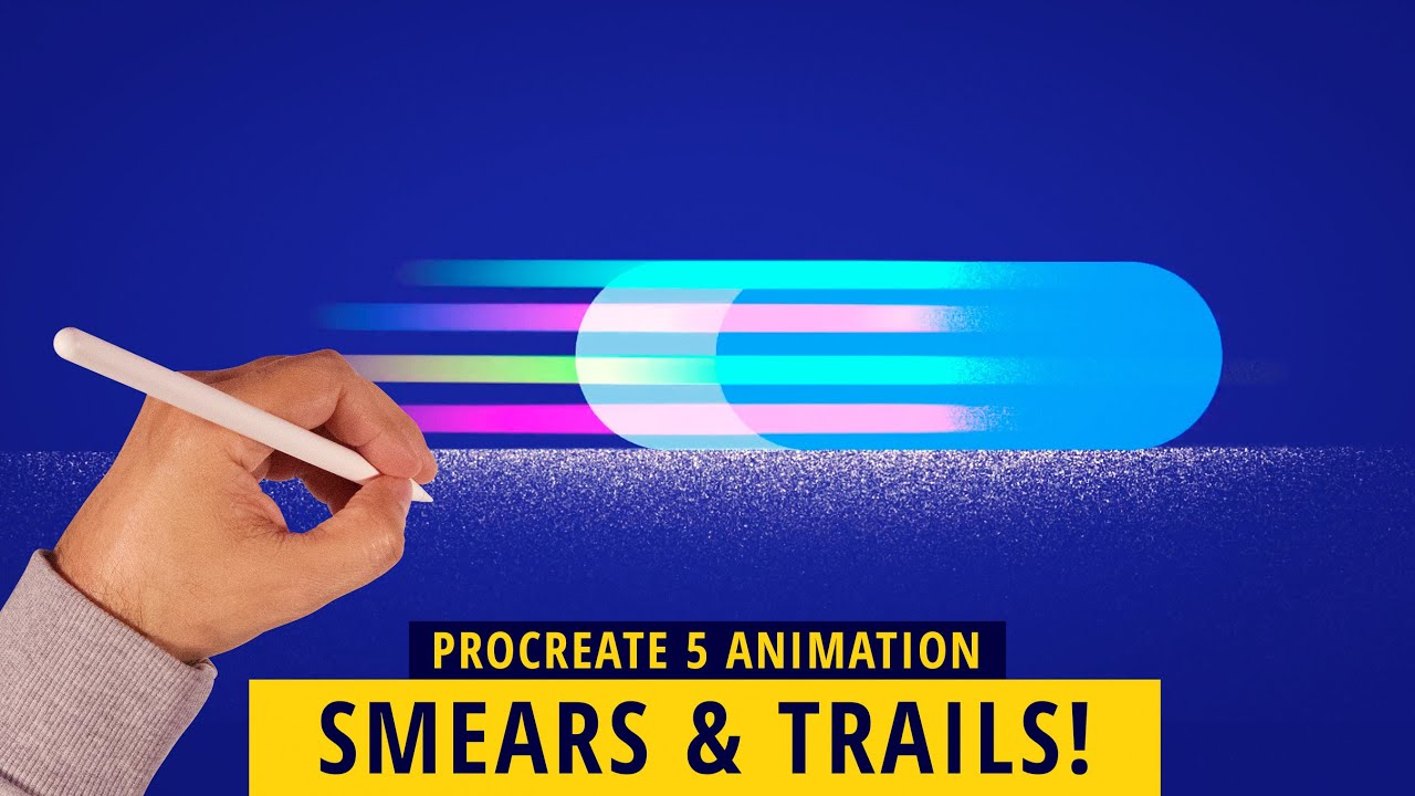 PROCREATE 5 ANIMATION: How To Animate Smears & Trails!