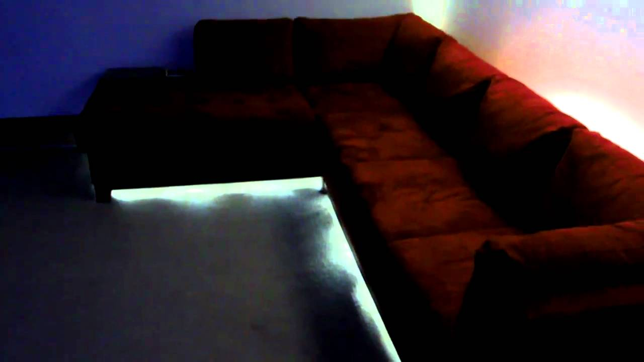 Merveilleux Soho Red LED Lighting On Sectional Couch   YouTube