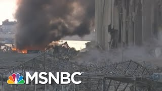 Beirut Explosion Comes While Hezbollah Members On Trial For PM's Death | Andrea Mitchell | MSNBC