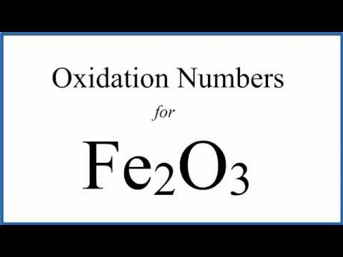 How To Find The Oxidation Number For Fe In Fe2o3
