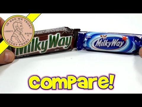 Comparing a UK Milky Way to a USA Milky Way + Bonus Mars Bar!