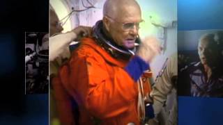 Happy 93rd Birthday to John Glenn, From the Space Station | Video