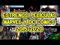 Todas las Películas MARVEL y DC (Estrenos 2015-2020) BATMAN vs SUPERMAN, DEADPOOL, THOR y muchos más
