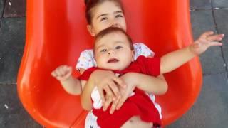 bebek baby elifsu ablası eylül beraber kaykaydan kayarken 7 aylık