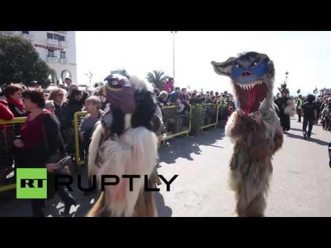 Greece: Watch The Wacky 'Bell Wearers' Parade Through Thessaloniki
