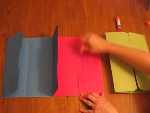 how to make a tri folder lapbook mpg youtube