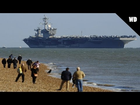 USS Theodore Roosevelt Anchors Off Hampshire