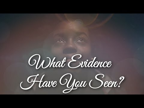 What Evidence Have You Seen?