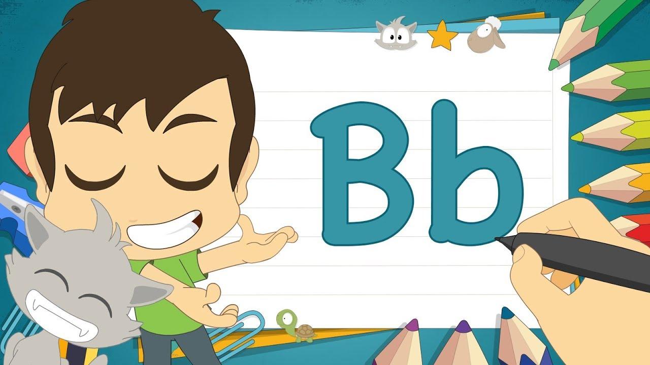 حرف B تعليم كتابة حرف B باللغة الإنجليزية للاطفال تعلم الحروف الإنجليزية مع زكريا Youtube