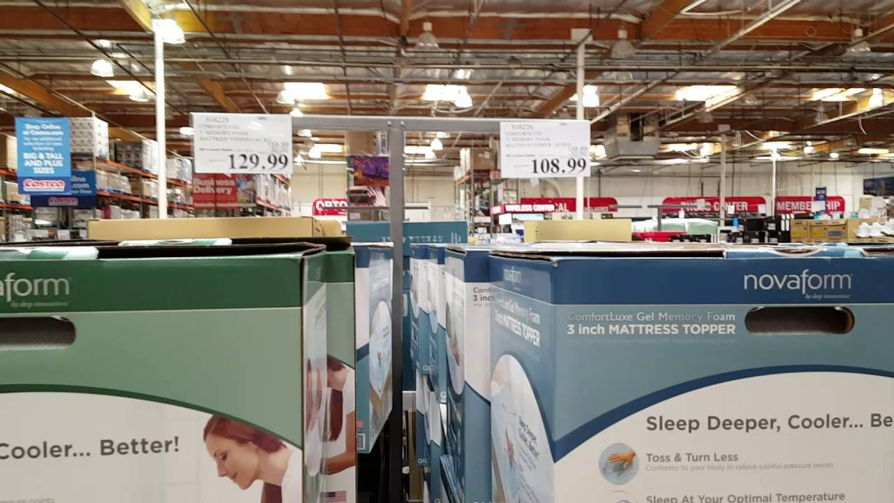 gel mattress topper costco Costco NovaFoam mattress topper? blue and green, Whats the  gel mattress topper costco