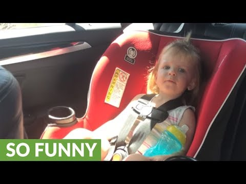 Toddler adorably fails at singing ABC's