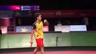 Badminton Cup 2014 | Antony Ginting vs Boonsak Ponsana   Axiata