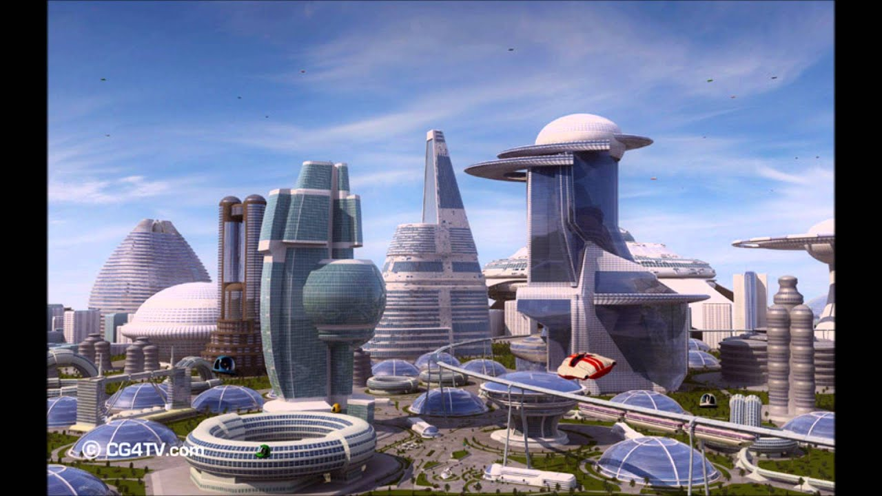 Future Cities With Flying Cars