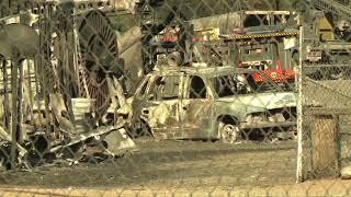 תיעוד: נזקי שריפות הענק בארה