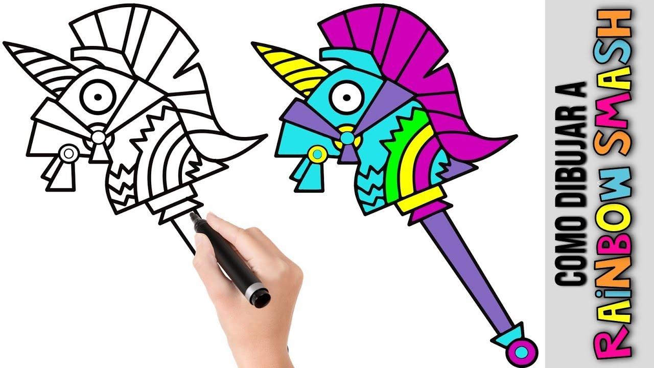Dibujos Para Colorear De Fortnite: Como Dibujar Rainbow Smash ★ Fortnite★ Dibujos Fáciles