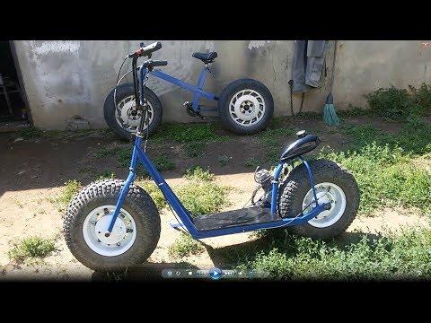 Крутой Super Scooter. Самодельный.