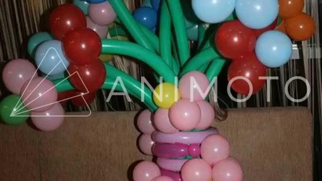 Букеты и цветы из шариков, фигурки из шдм Харьков
