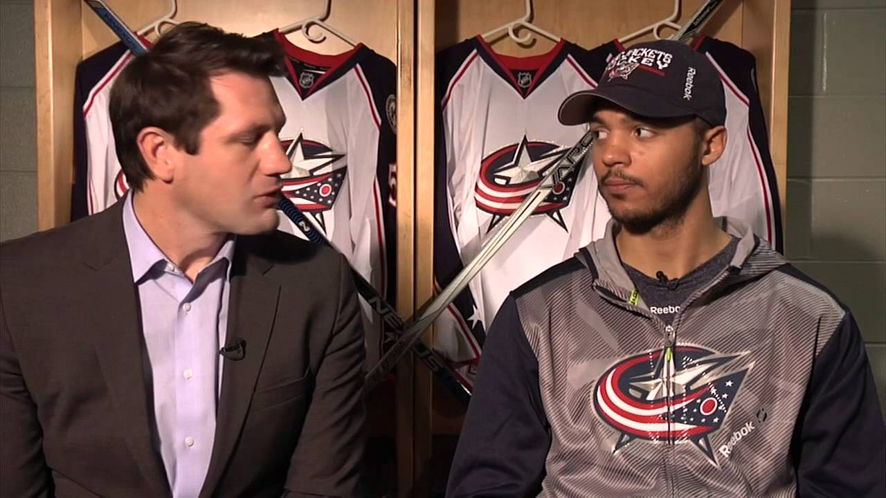 buy online 973a0 6bdc9 Seth Jones discusses being traded to Columbus Blue Jackets from Nashville  Predators