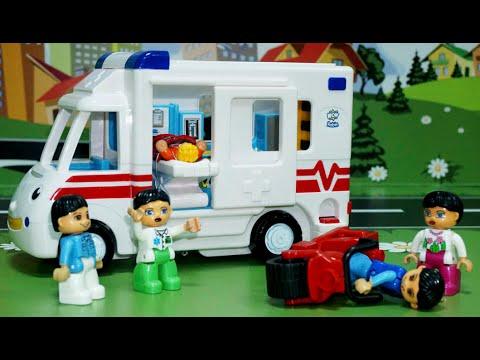 Мультик про машинки Скорая помощь Пожарная и Полицейская