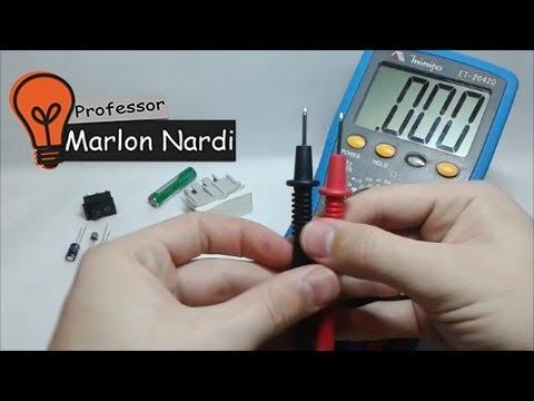 Como Utilizar o Multimetro - HD - Aprenda em 6 minutos - Professor Marlon Nardi