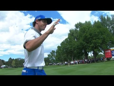 Rory McIlroy's beautiful eagle hole out on No. 7 at BMW