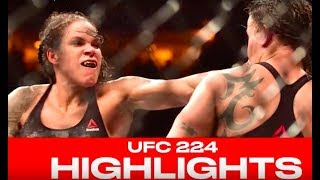 UFC 224 Highlights - Amanda Nunes Crushes Raquel Pennington In Rio
