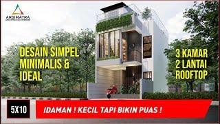 Download Lagu Rumah Mungil Minimalis 5x10 Dengan Rooftop Paling Keren mp3