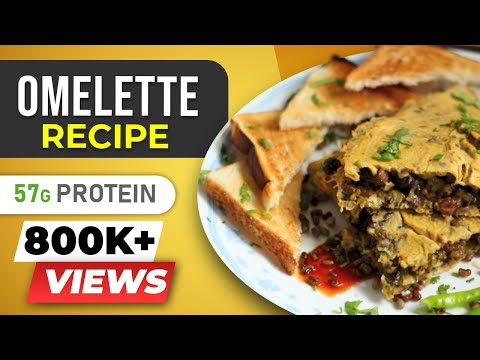 Super High Protein Omelette - Indian Egg Recipes - BeerBiceps Bodybuilding Diet Breakfast