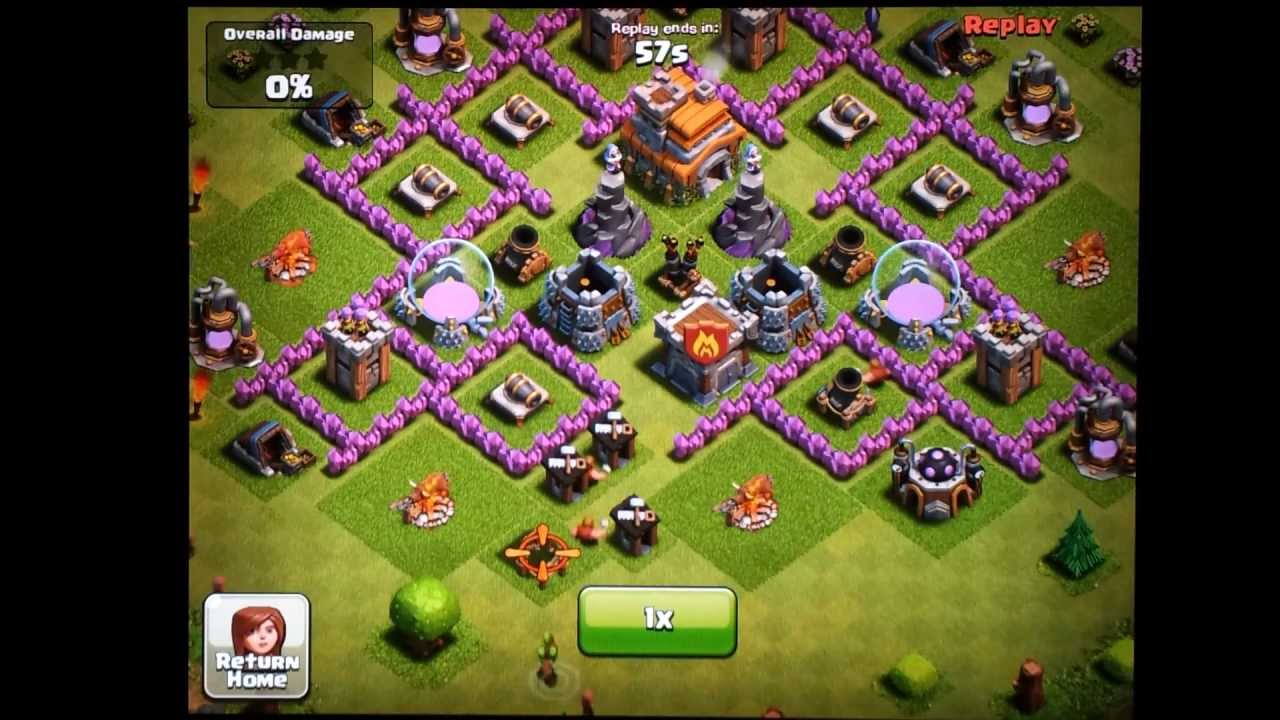 Clash Of Clans Town Hall Level 7 Funnel Defense Replays Youtube