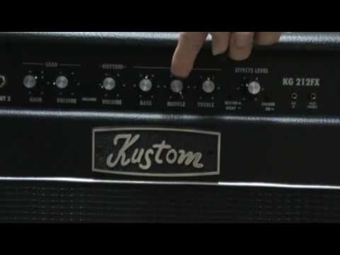 KUSTOM KG212FX AMP DRIVE SOUNDwmv - YouTube