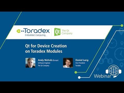 Webinar On-Demand: Qt for Device Creation on Toradex Modules