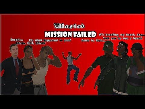 GTA San Andreas – Fail Cutscenes and Dialogues