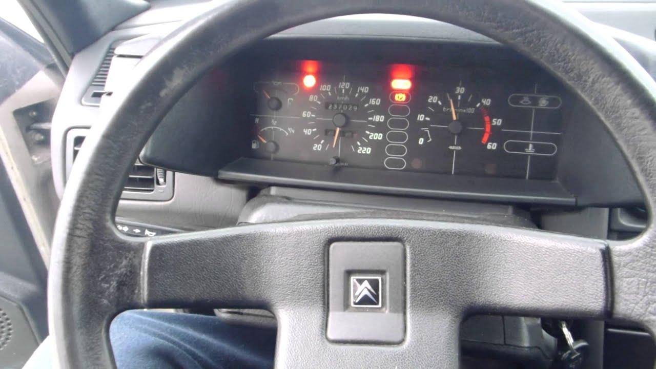 Cold start BX Millesime turbo diesel - YouTube