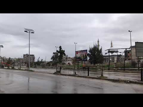Walking in the City of Homs, Syria