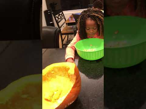 The wrong way to clean Pumpkin Seeds!