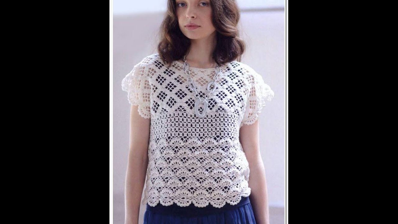 Crochet Patterns For Free Crochet Blouse 1439 Youtube
